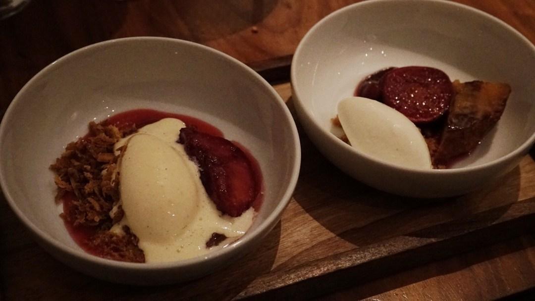 Duo de dessert du Kitchen Gallery Bis