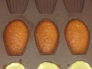 Les madeleines dans leur moule