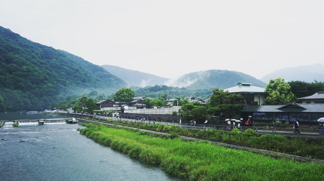 Les montagnes d'Arashiyama