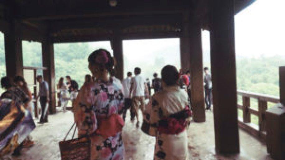 L'intérieur du temple Kiyomizudera
