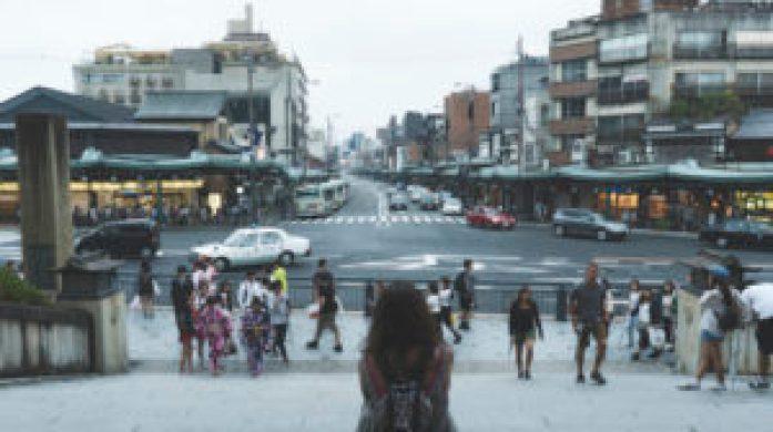 Eatmytravel face au quartier de Gion