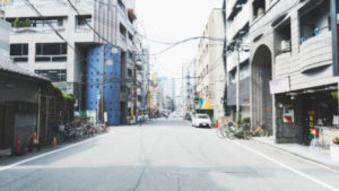 La rue de notre appartement à Osaka