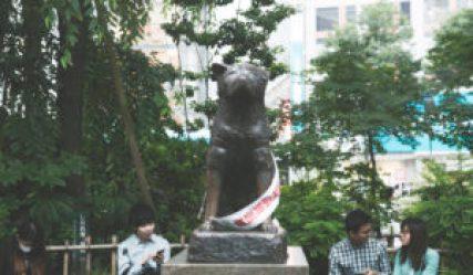 la statue du chien Hachiko
