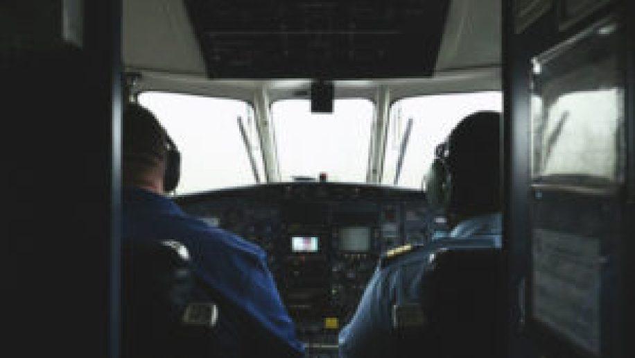 Le cockpit de notre petit avion inter Bahamas