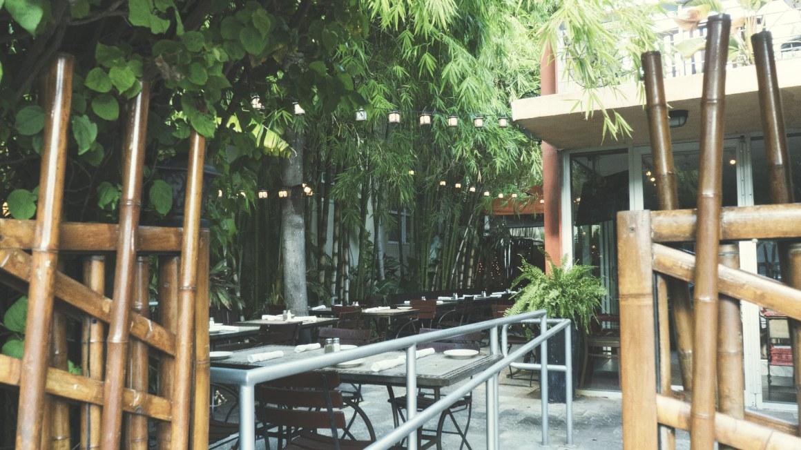 La terrasse du restaurant Sylvano
