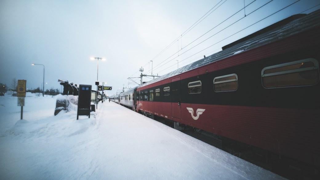Gare de Kiruna en Laponie
