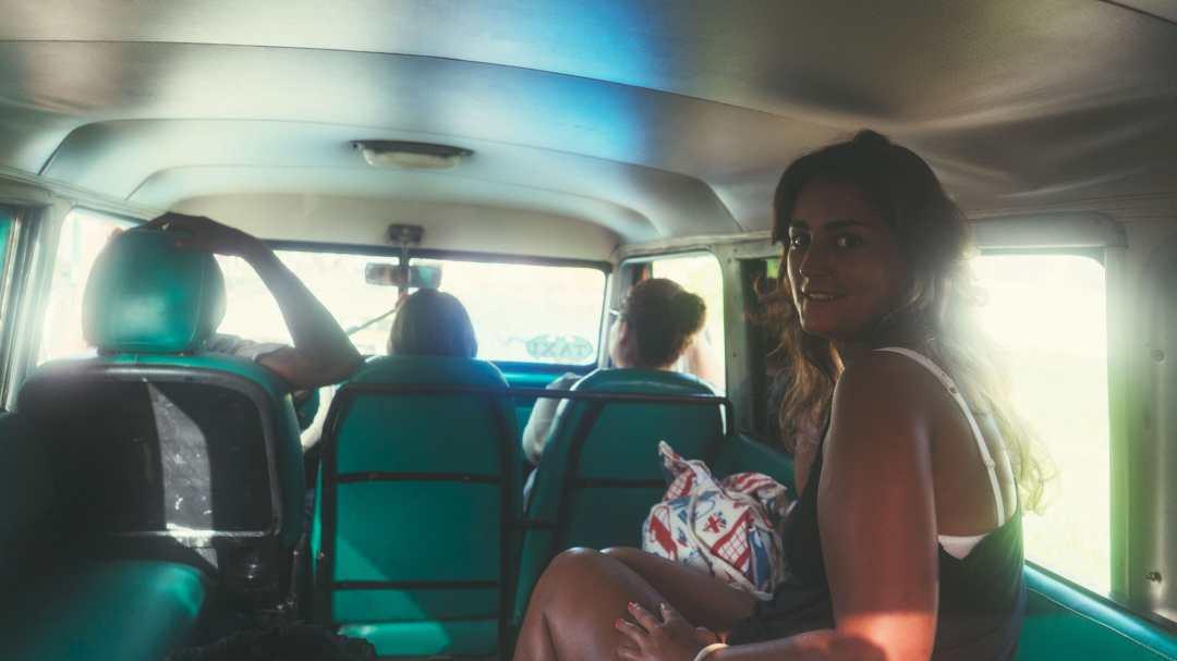 Eatmytravel dans le taxi collectif à Cuba