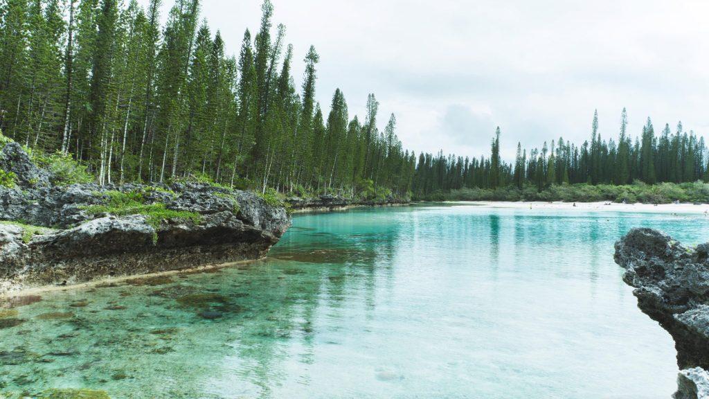 la piscine naturelle de l'île des pins