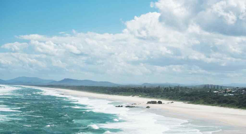 plage de byron bay australie
