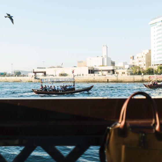 Vue sur la crique de Dubaï