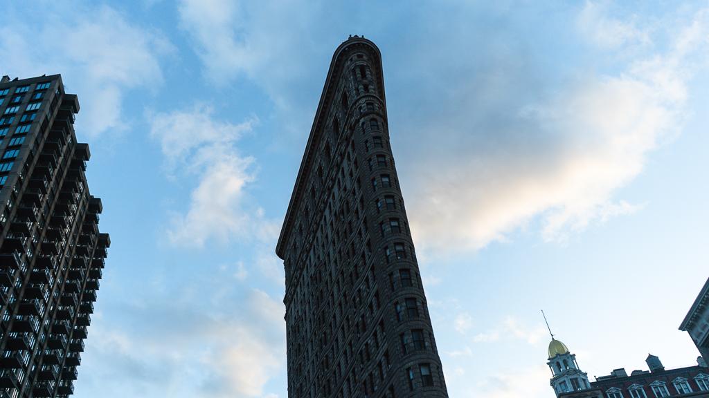 ombre sur le flatiron de new york