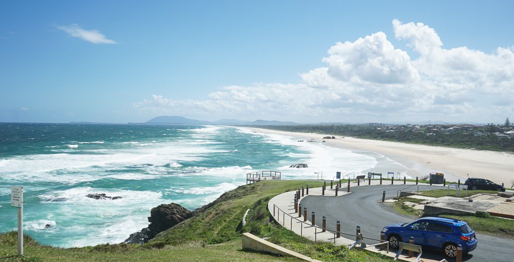 vue de la mer sur la cote est en Australie