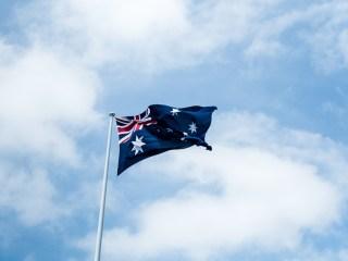 drapeau flottant de l'australie