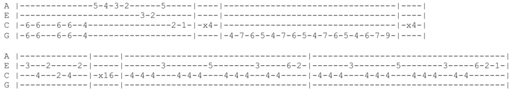 metallica for whom the bell tolls ukulele tabs