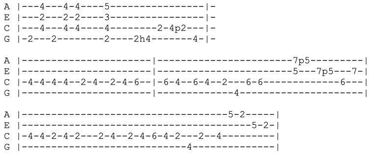 john mayer - still feel like your man - ukulele tabs