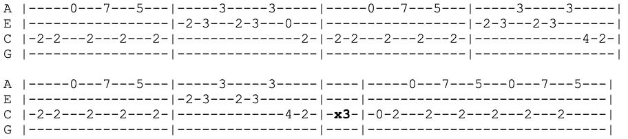 alice cooper - poison - ukulele tabs