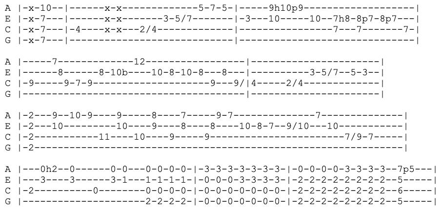 jimi hendrix - little wing - ukulele tabs