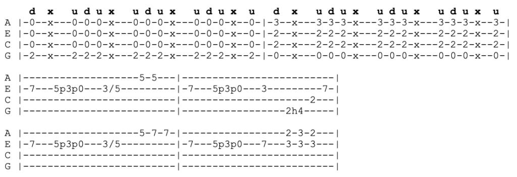 khruangbin - texas sun - ukulele tabs
