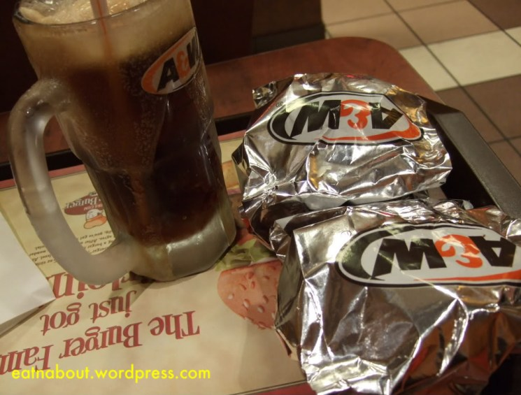 A&W Uncle Burger and Root Beer Float