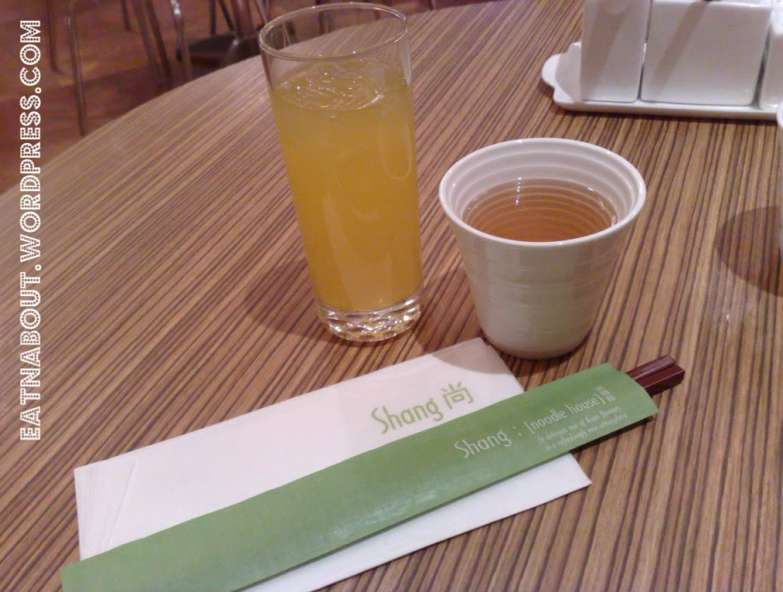 Shang Noodle House: Passion fruit Juice