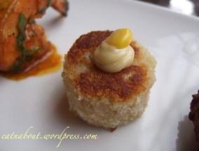 Regional Tasting Lounge: Dungeness Crab & Shrimp Cake canape