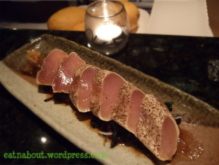 Alpha Sushi: Tuna Garlic Pepper Sashimi