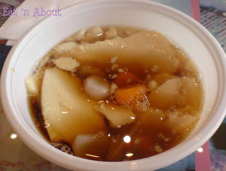 Bean Flower Burnaby: Tofu pudding with taro rice balls