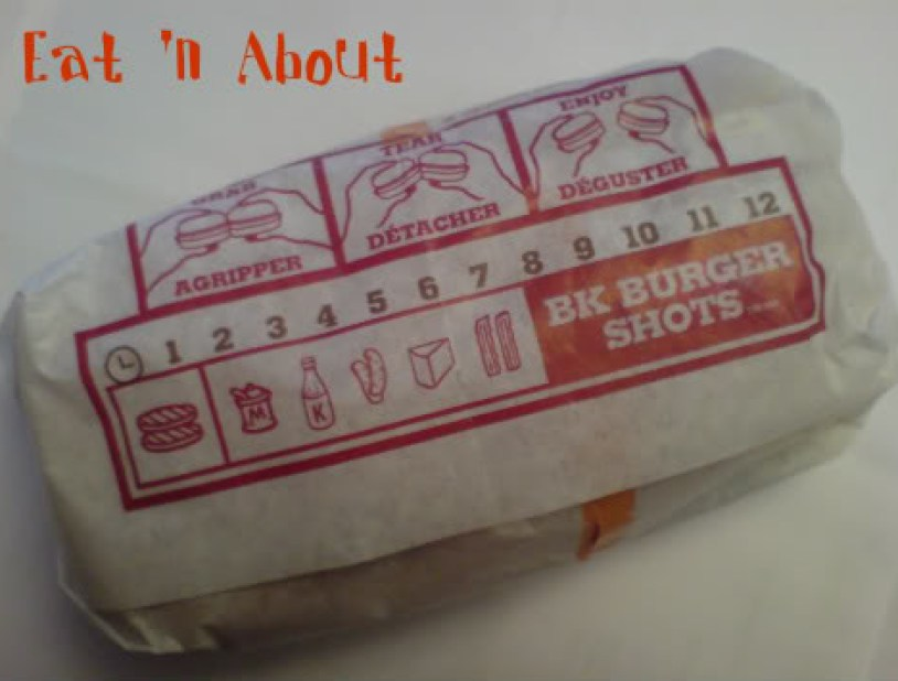 Burger King Burger Shots