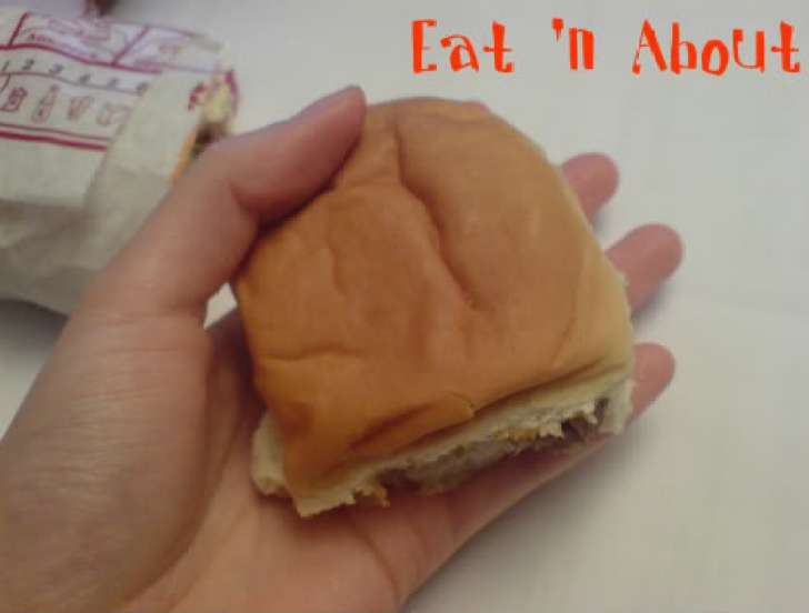Burger King Burger Shots size