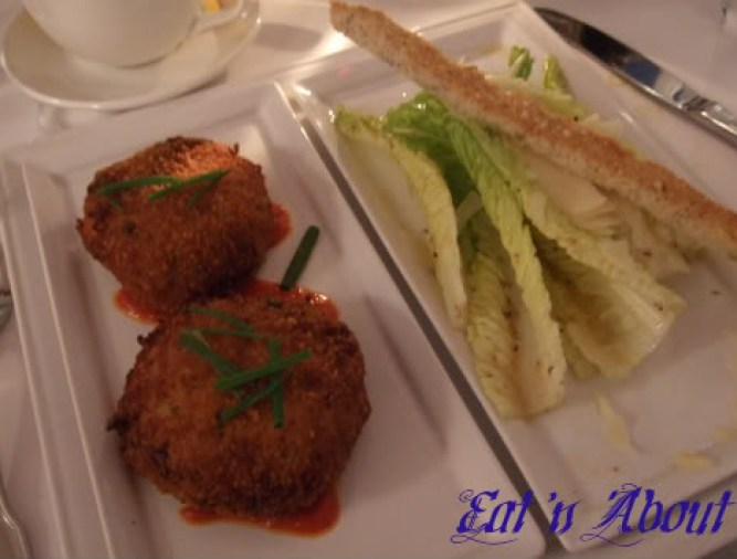 The Fish House: Angel Hair Crab Cakes