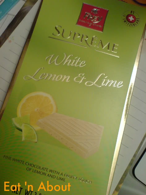 Frey Chocolate: White Lemon and Lime