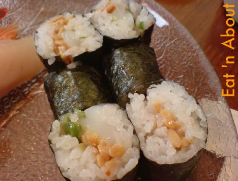Sushi House: Ika and Natto roll