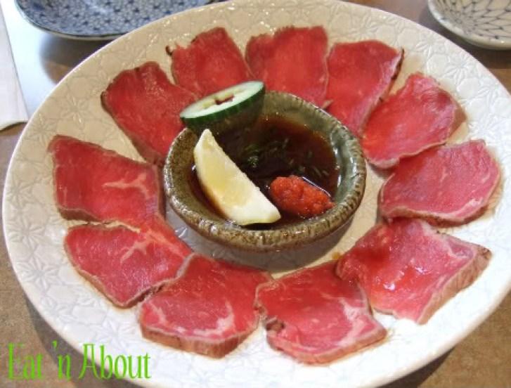 Ichiro Japanese Restaurant: Beef Sashimi
