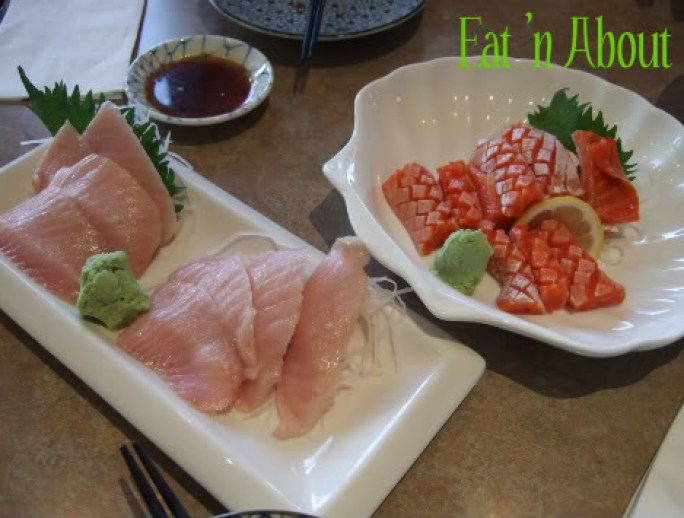 Ichiro Japanese Restaurant: Tuna Belly and Salmon Belly Sashimi