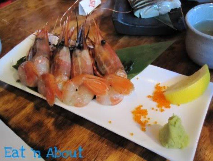 Toratatsu: Spot Prawn Sashimi