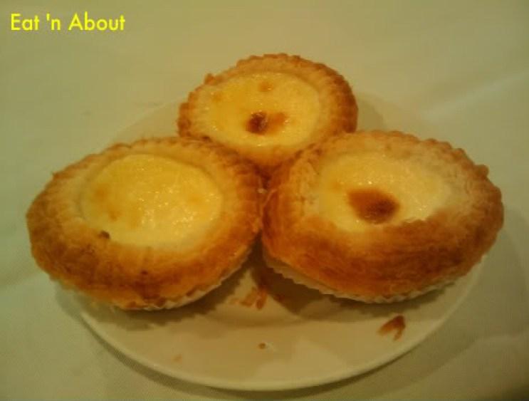 Dim Sum at Golden Sea City: Portuguese-style egg tarts