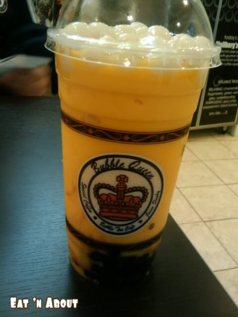 Bubble Queen: Mango Slush Bubble Tea with Mochi