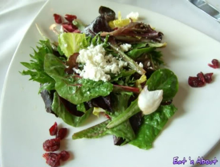 Seasons in the Park: Mixed Greens with sun dried cranberries, goat cheese and maple vinaigrette