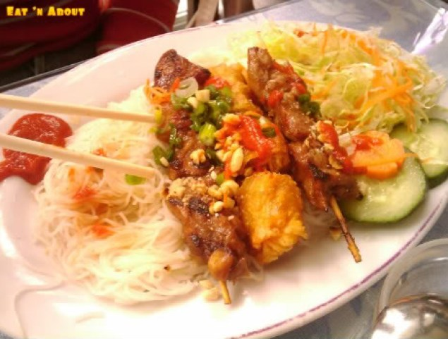 Pho Century: Pork skewers with vermicelli