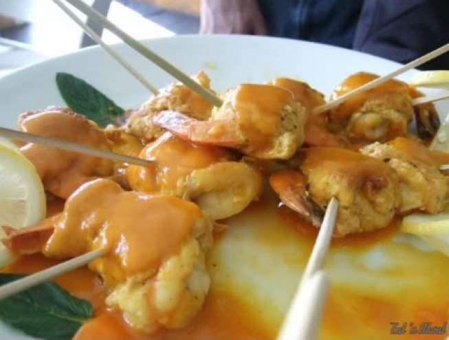 Laziza Modern Mediterranean: Stuffed Chicken Prawn with saffron sauce