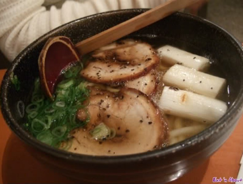 Genzou: Roasted Pork and green onion udon in soup