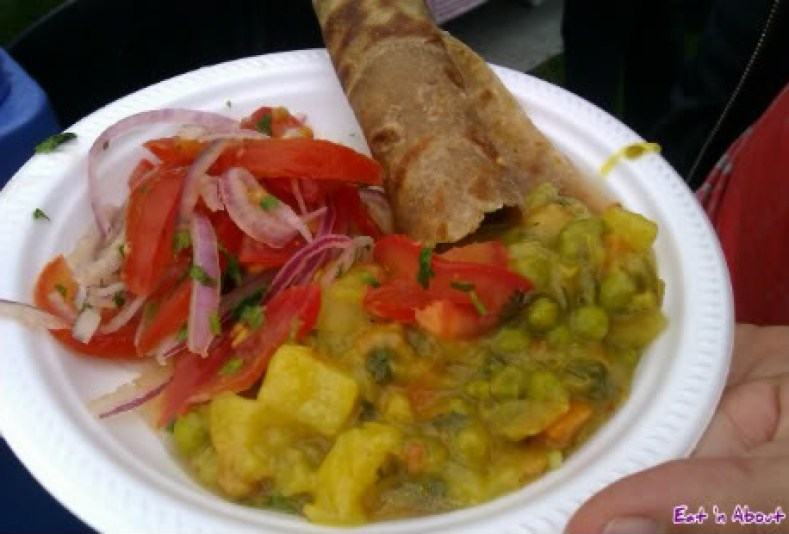 Surrey Fusion Fest: Kenyan curry and tortilla with salad