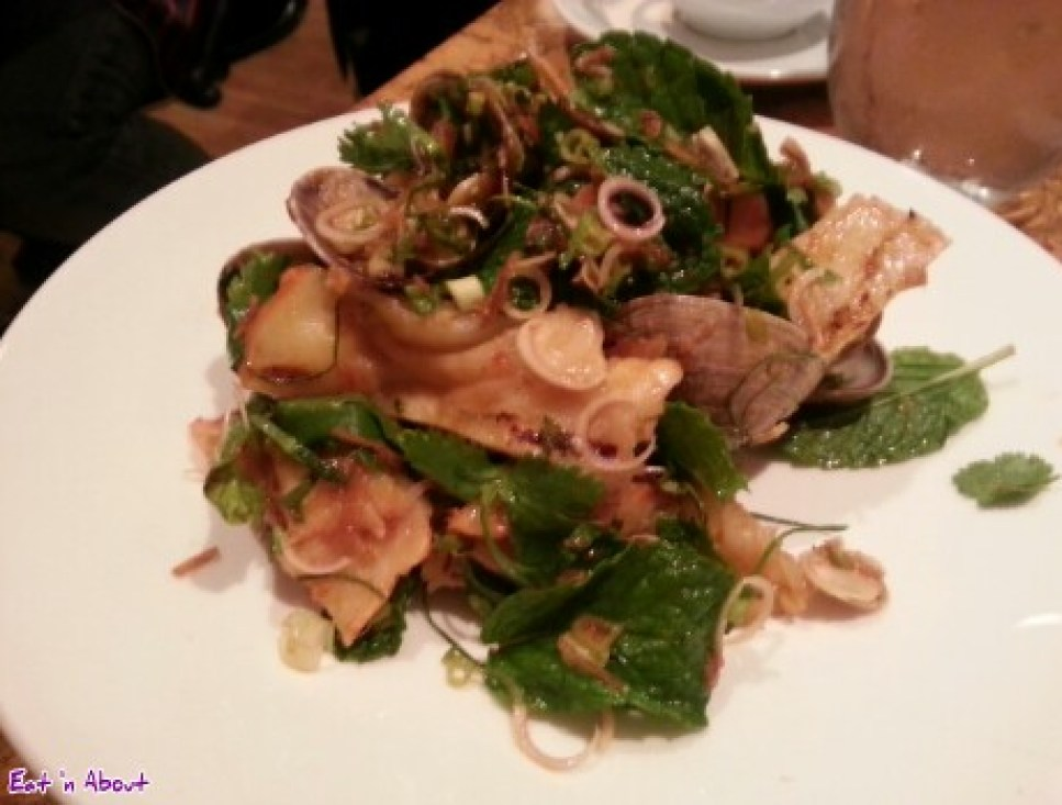 Maenam: Clam and lobster claw with mint salad