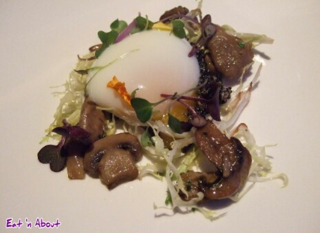 Raincity Grill: Wild mushrooms with a 64-degree six masters egg, black quinoa, and roasted mushrooms