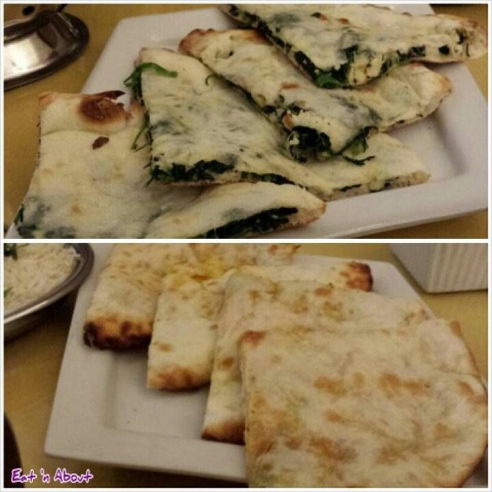 Lazymeal Mashup at Handi Cuisine of India Burnaby: Palak Paneer Naan and Aloo Naan