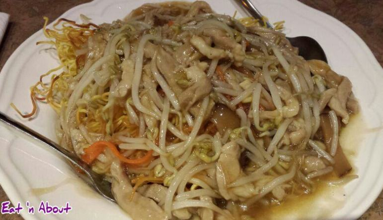 Mr. Ho Wonton House: Shredded Pork and Bean Sprouts Chow Mein