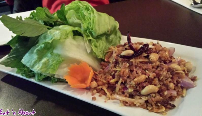 U & I Thai: Isaan Lettuce Wraps (Yom Nam Khao Tod)