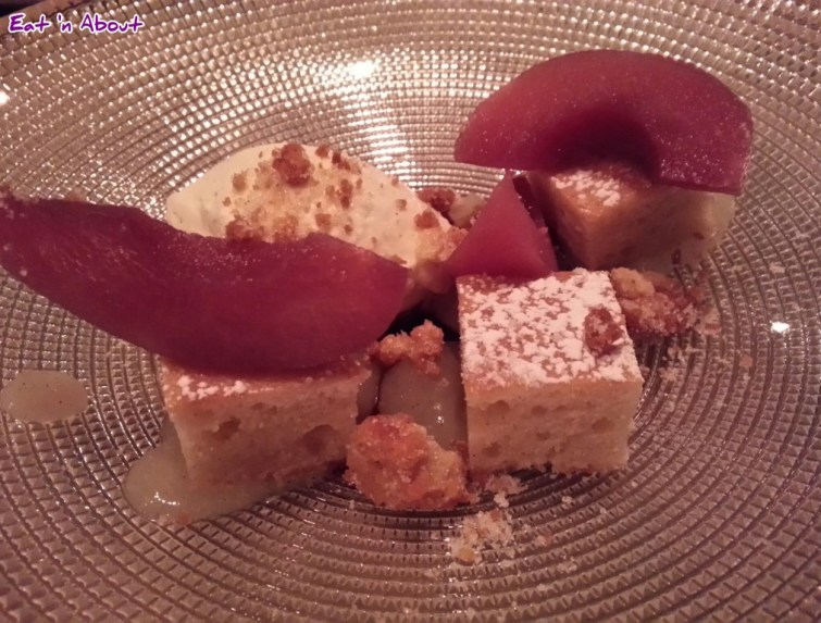 L'Abattoir: Red wine and Vanilla Poached Pears