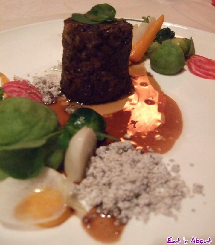 The Observatory: Braised Beef Shortrib; pomme purée, mocha crumble