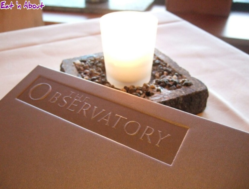The Observatory Grouse Mountain menu